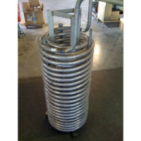 Serpentine type exchanger made in 316L